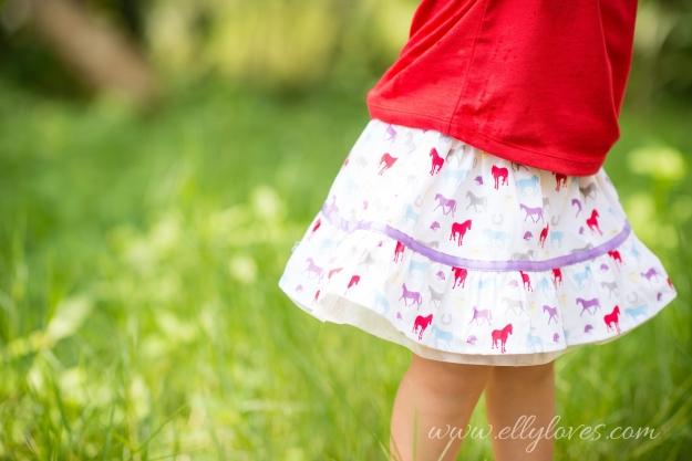 Skirt Pastel Horses 1