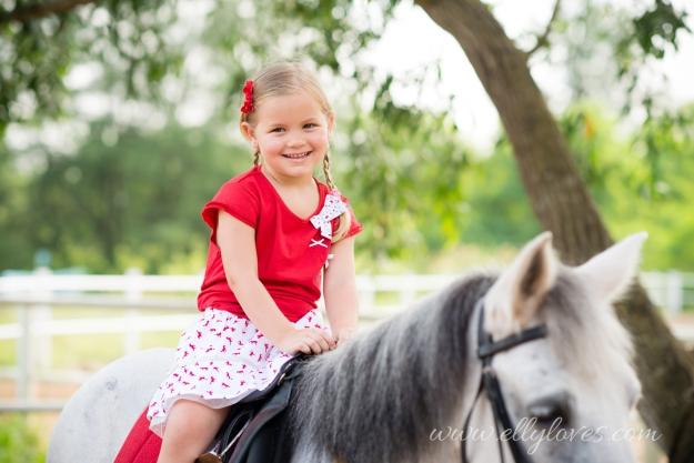 Skirt Red Horses