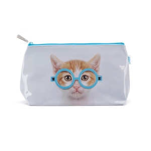 gc4w- glasses cat wash bag