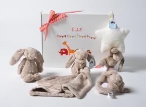 beige bunny star gift set large