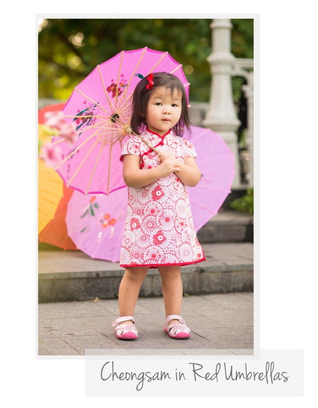 Cheongsam Red Umbrellas