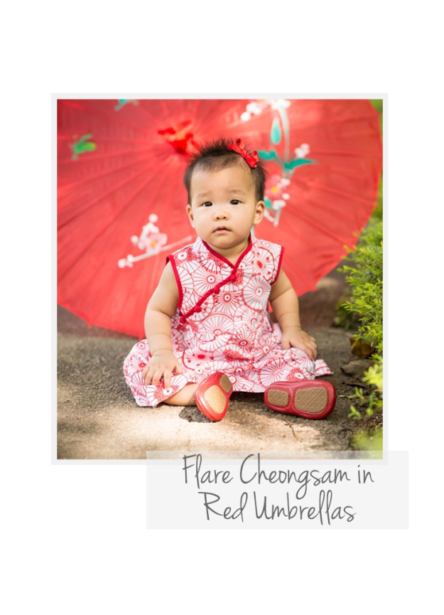 Flare Cheongsam Red Umbrellas