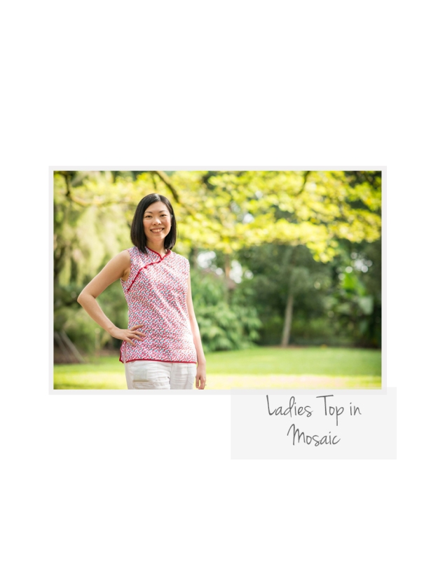 Ladies Top in Mosaic