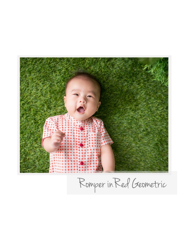 Romper in Red Geo
