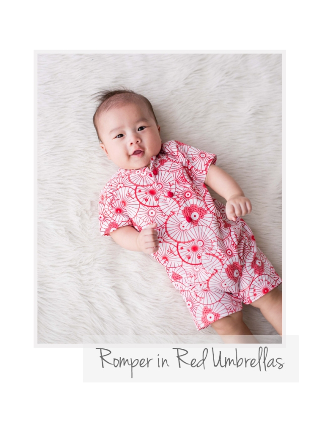 Romper in Red Umbrellas
