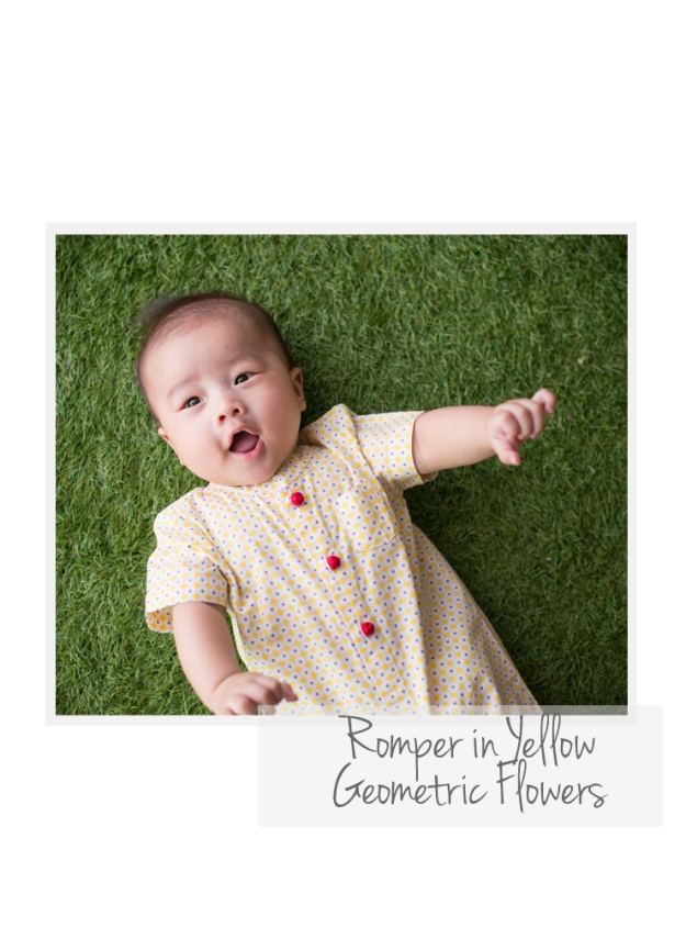 Romper in Yellow Geo Flowers