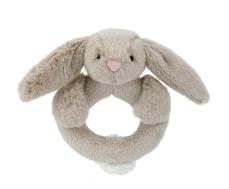 Bashful beige bunny ring rattle L
